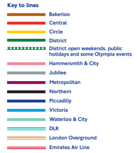 Colours of the Tube Lines