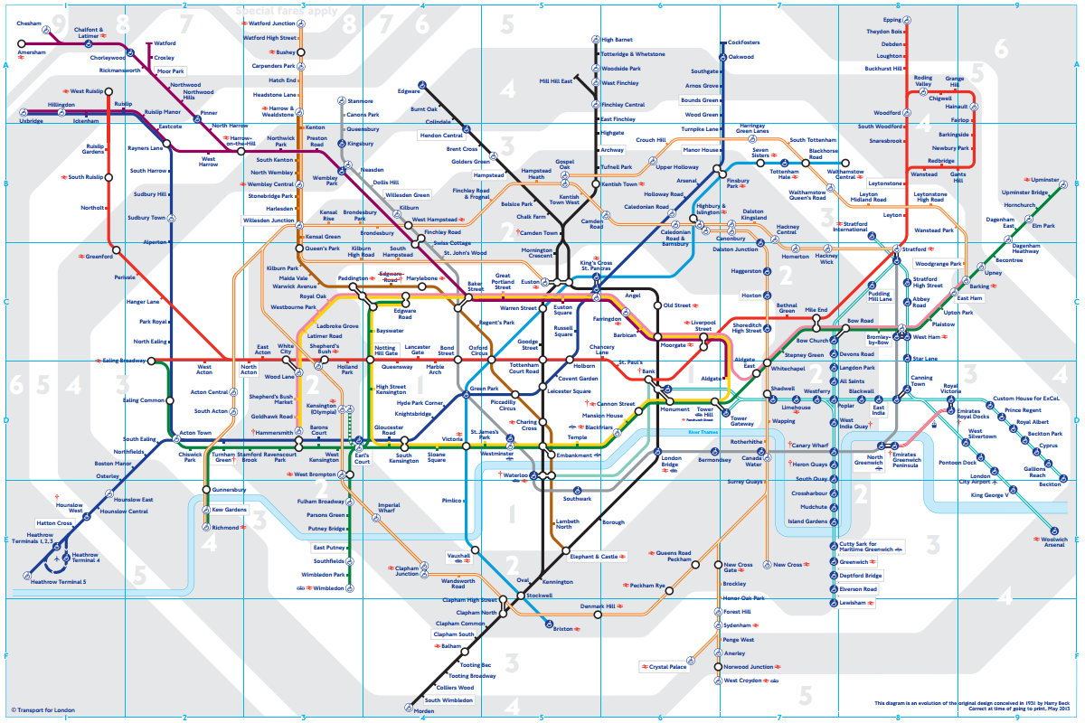 London underground - all zones
