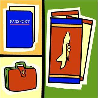 plane tickets and passport