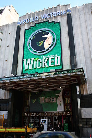 Apollo Victoria Theatre showing Wicked