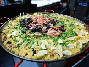 Paella in Borough Market