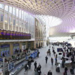 Kings cross roof and departure boards